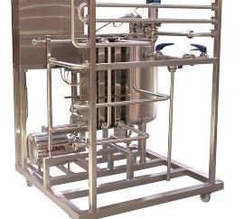 MINI Átfolyó rendszerű pasztőr, lemezes hőcserélővel, automatikus vezérléssel és adatregisztrálással