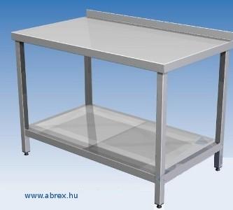 ABREX - rozsdamentes acél munkaasztal (WNR 1.4301élelmiszeripari minőség, a merevítése és a váz-szerkezete is)