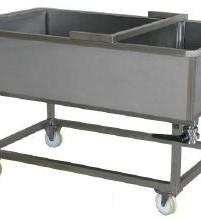 ABREX Alvadékszűrő- és túrókocsi, elválasztófallal (pneumatikus előpréssel is felszerelhető)