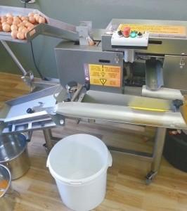 ABREX - tojás törő / sárgája-fehérje szétválasztó gép