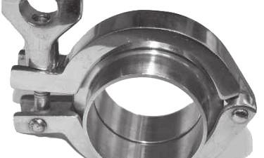 """ABREX """"clamp"""" csatlakozó a nagy hatékonyságú tej szűrőkhöz (10, 5 vagy 3 mikronos)"""