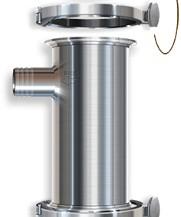 ABREX rozsdamentes acél szűrőház a nagy hatékonyságú tej szűrőkhöz (10, 5 vagy 3 mikronos)