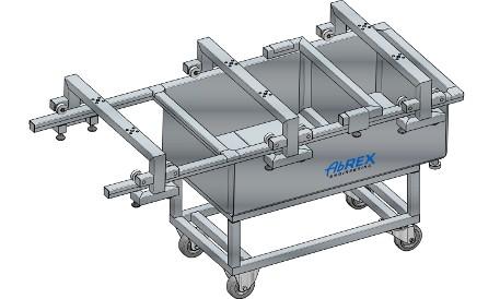 ABREX alvadékszűrő kád, pneumatikus előpréssel